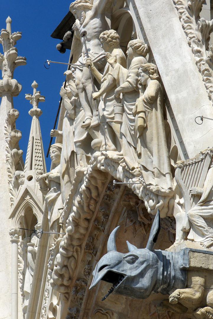 Portail principal de la cathédrale Notre-Dame de Reims