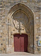 Portail (XIVème) de l'Eglise Notre-Dame de Francescas   --  Lot-et-Garonne
