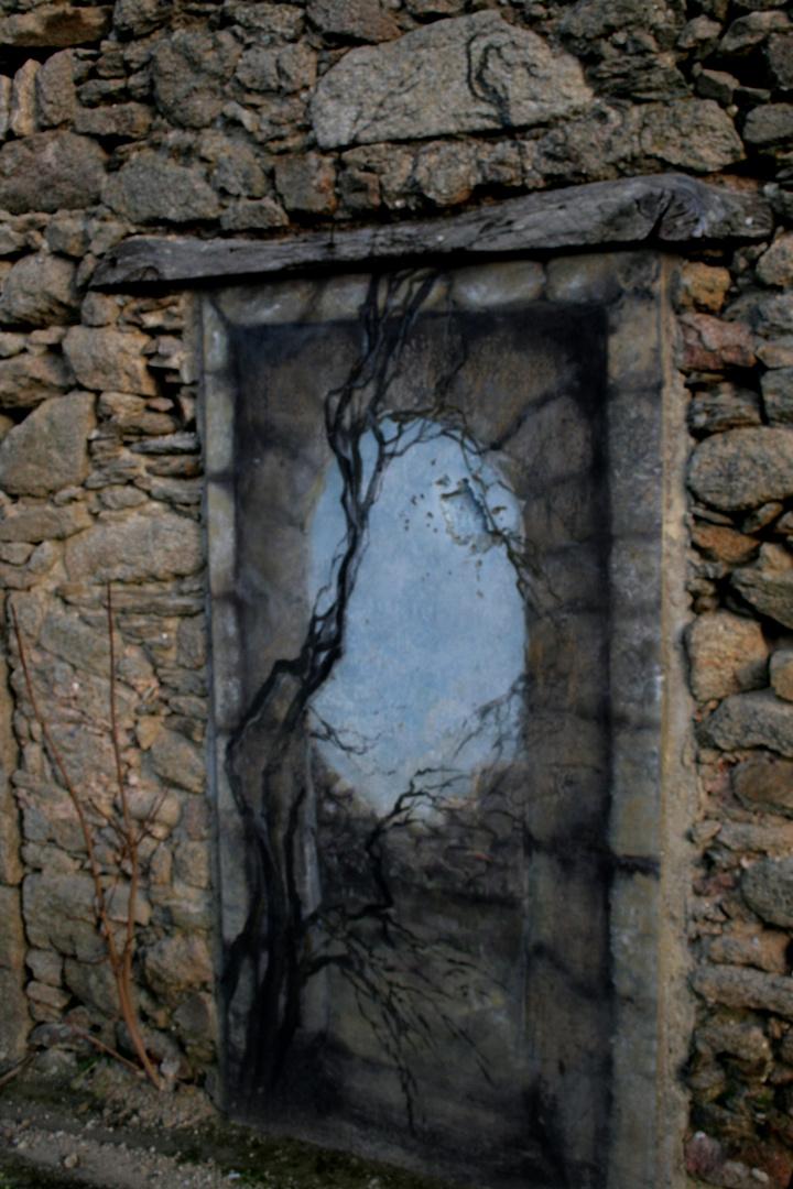 Porte avec arbre