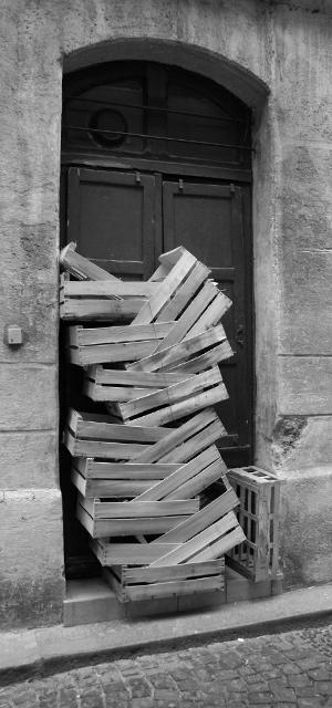 Porte encombrée