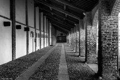 Porticato, abbazia di Mirasole, Milano