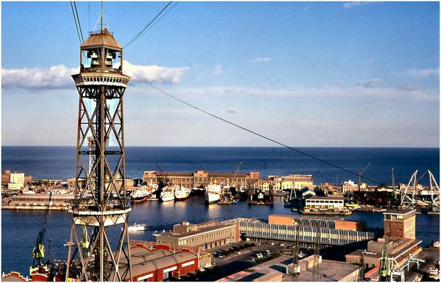 Porto di Barcelona.