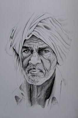 Porträt Mann mit Turban