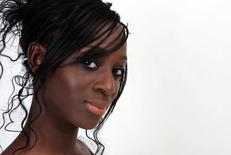 Portrait de jeune fille noire
