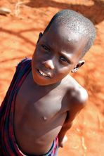 Portrait de un niño Masai