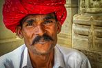 Portrait d'un gardien de temple