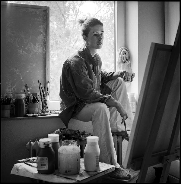 Portrait einer Malerin