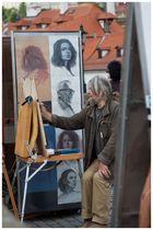 Portrait eines Portrait-Zeichners