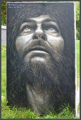 Portrait - Graffiti-Kunst - Street-Art in Krefeld, Zollhof