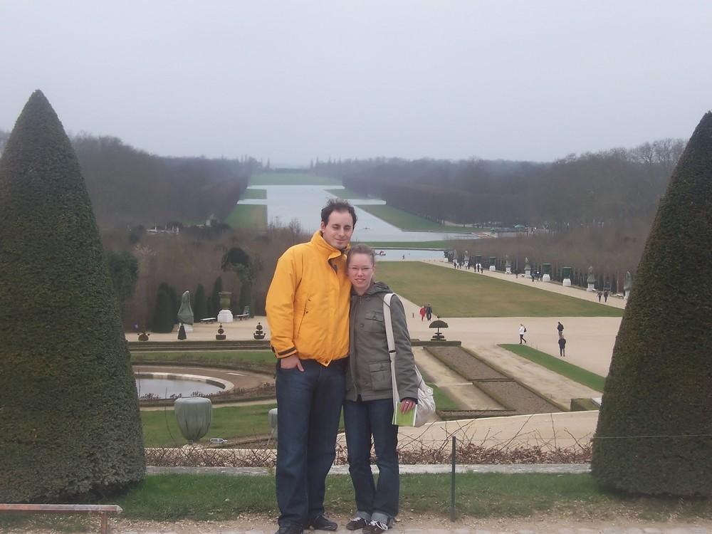 Portrait im Garten von Versailles