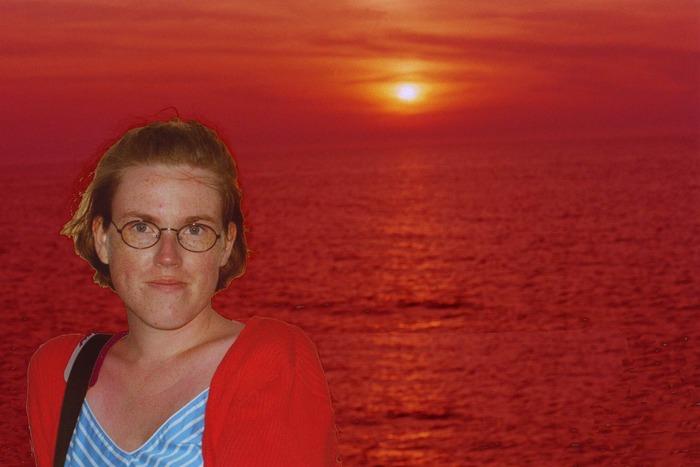Portrait im Sonnenuntergang