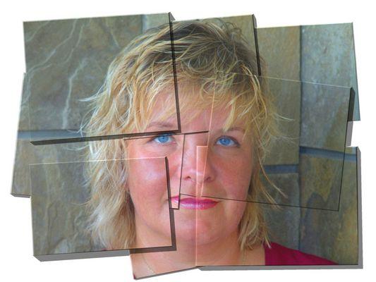 Portrait mit Hilfe einer EBV - Spielerei