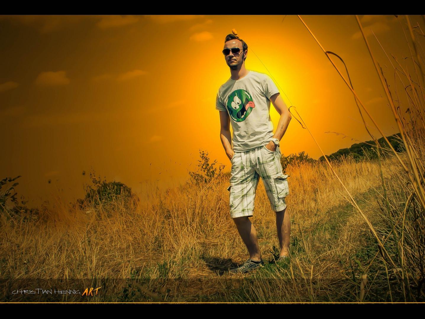 Portrait mit Morgenröte