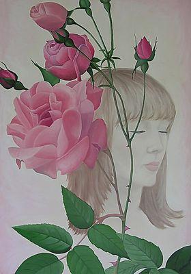 Portrait mit Rosen