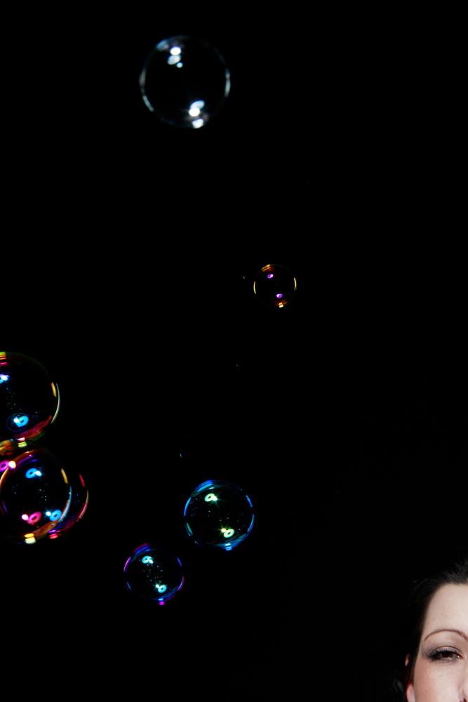 Portrait mit Seifenblasen