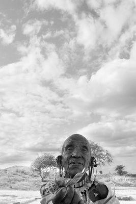 Portrait of a old Massai woman