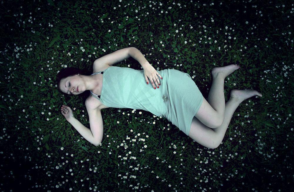portrait of a sleeping beauty