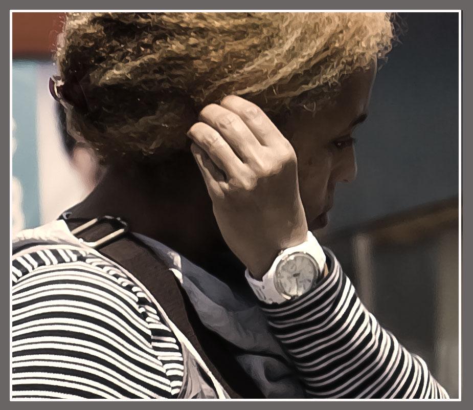 portrait of a woman with fancy watch