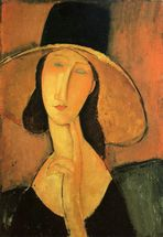 portrait-of-a-woman-with-hat-by-Amedeo-Modigliani-115