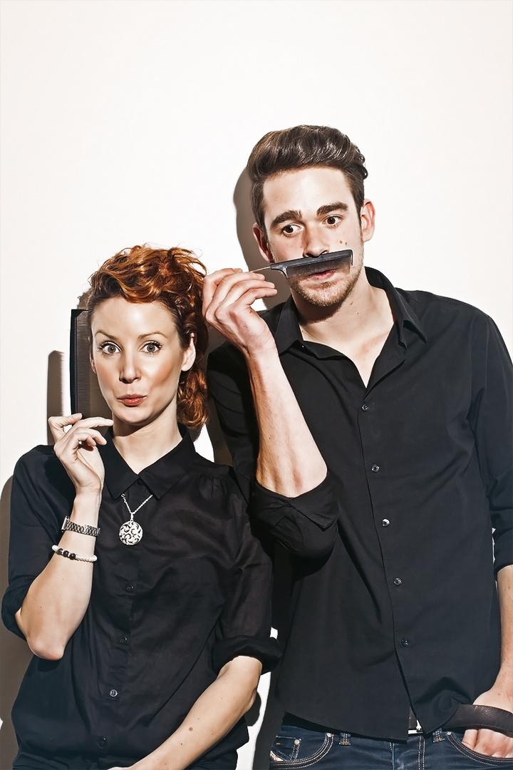 Portrait zweier Friseure