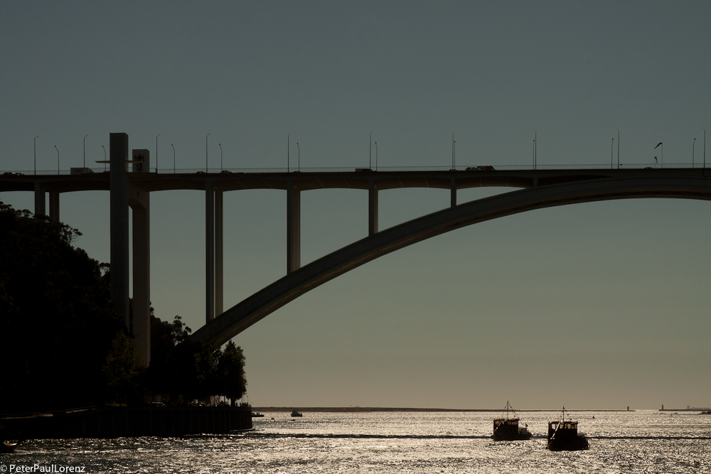 Portugal Porto Ponte de Arrabida Sonnenuntergang