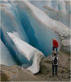Posing am Gletscher