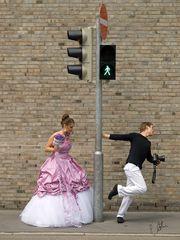Posinghilfe für die Braut