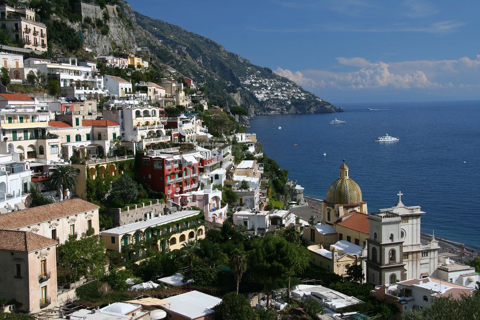 positano an der amalfi k ste foto bild europe italy vatican city s marino italy bilder. Black Bedroom Furniture Sets. Home Design Ideas