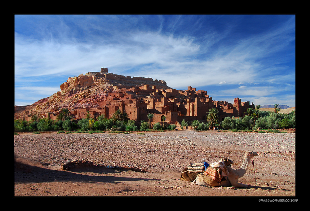 Postal card of Morocco
