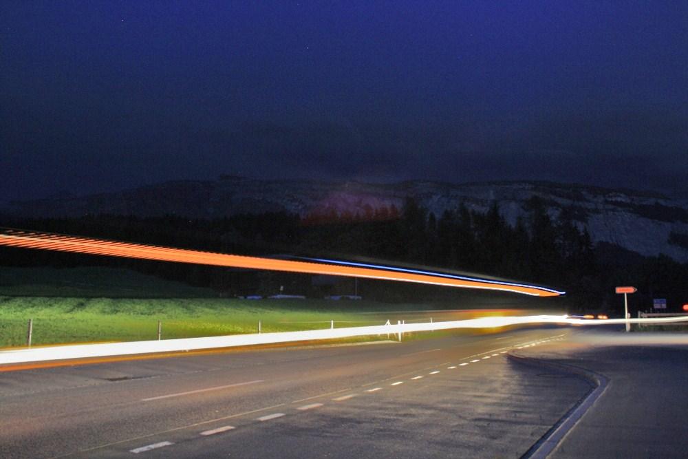 Postauto by Night