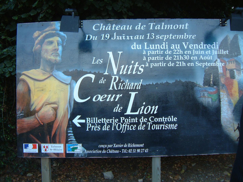 Poster at Chateau de Talmont, Talmont Saint Hilaire