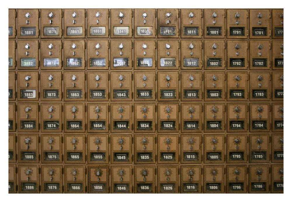 Postfächer im Post-Office des Yosemite National Parks