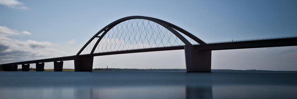 Postkarte der Fehmarnsundbrücke