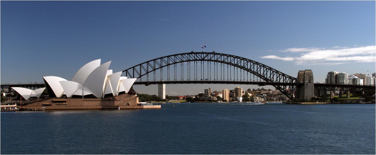 Postkartenblick Sydney
