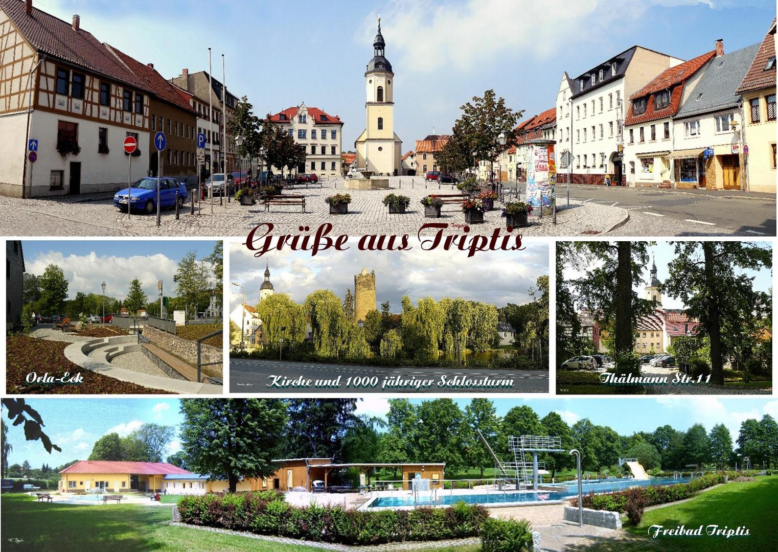 Postkartenmotiv von meiner Stadt Triptis