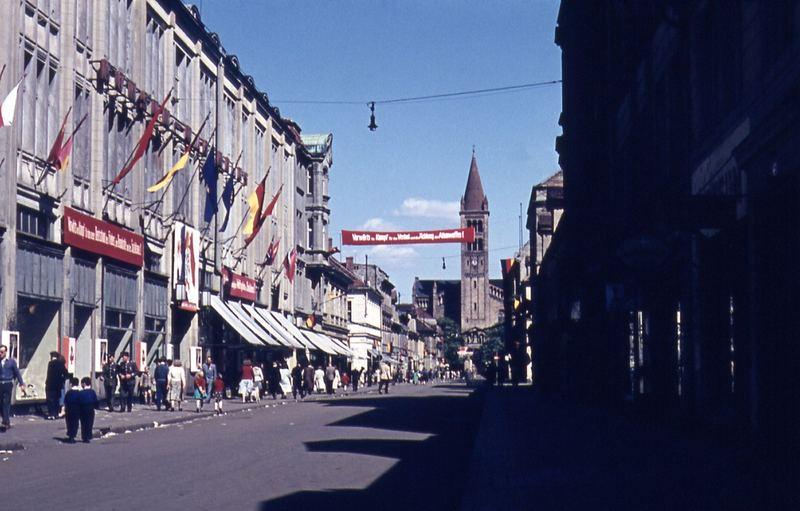 POTSDAM Alte Klement Gottwald Straße, 50er oder 60er Jahre