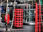 Potsdamer Platz - Spielplatz in rot