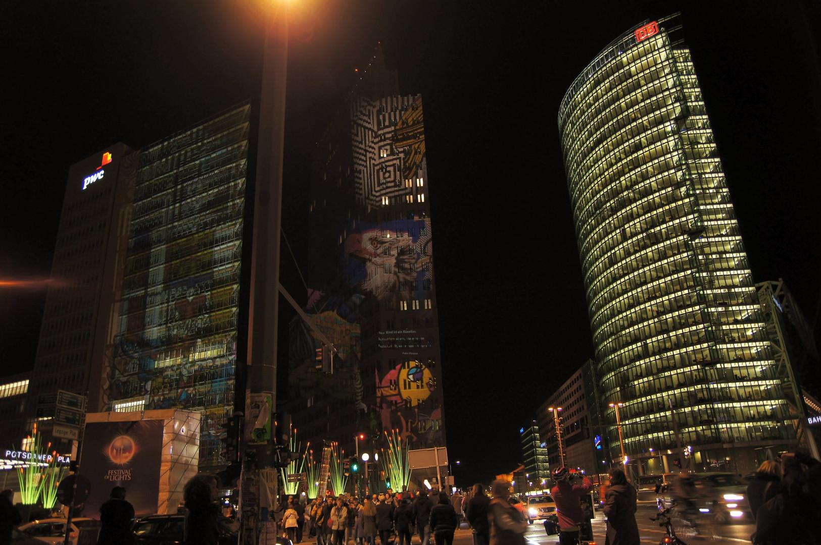 Potsdamer Platz zur Luminale 2013