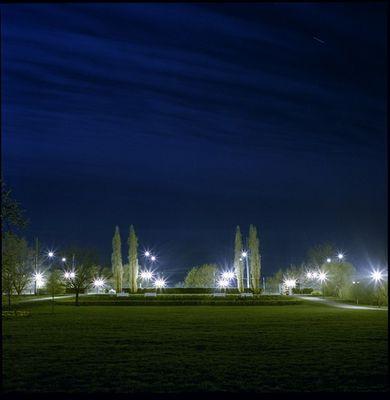 Potsdam/Freundschaftsinsel bei Nacht