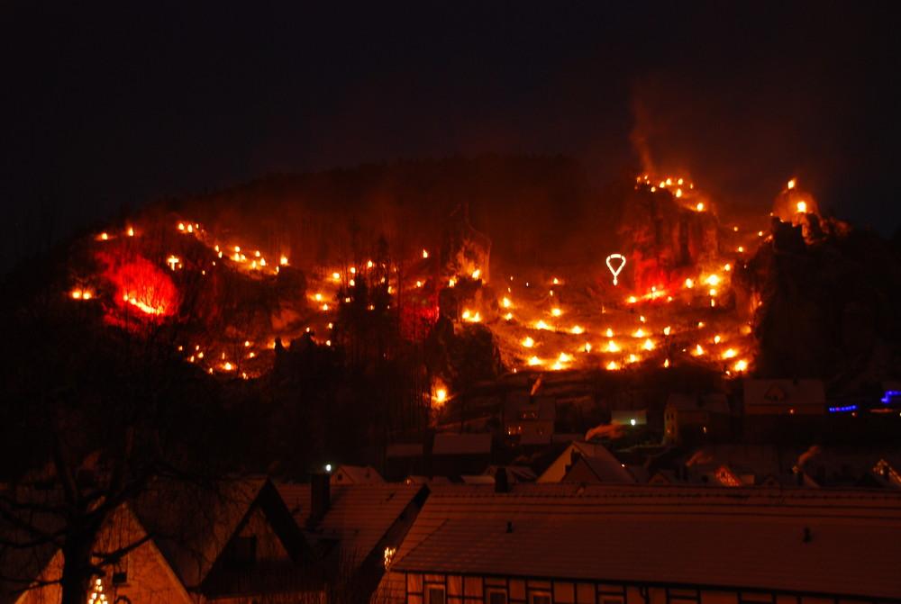 Pottenstein in Flammen