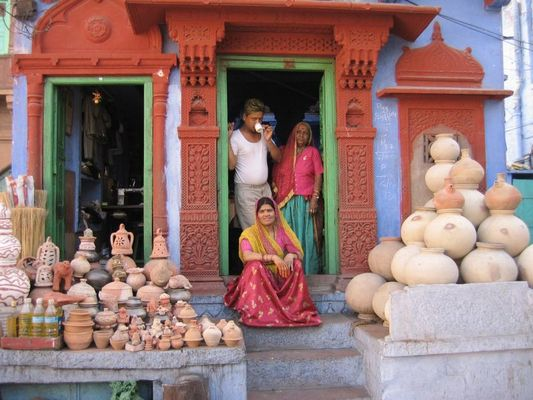 Pottery Family in Jodphur, Rajasthan, India
