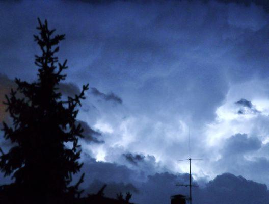 Potz Blitz ein Unwetter kommt
