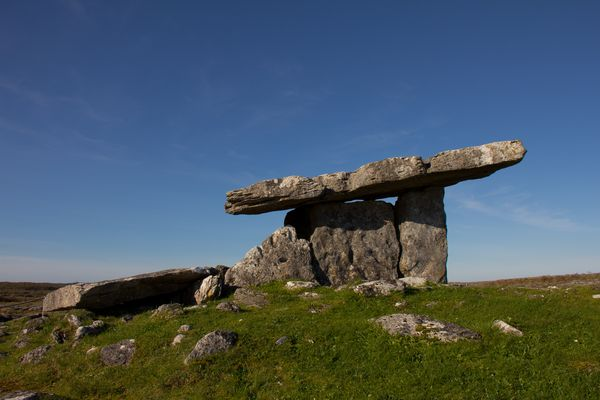Poulnabrone Dolmen, the Burren, County Clare, Ireland
