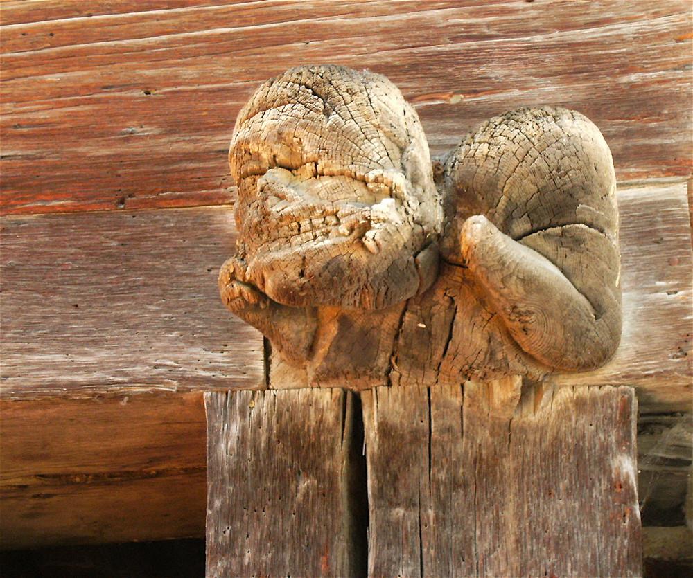 Poutre sculptée , Mirepoix