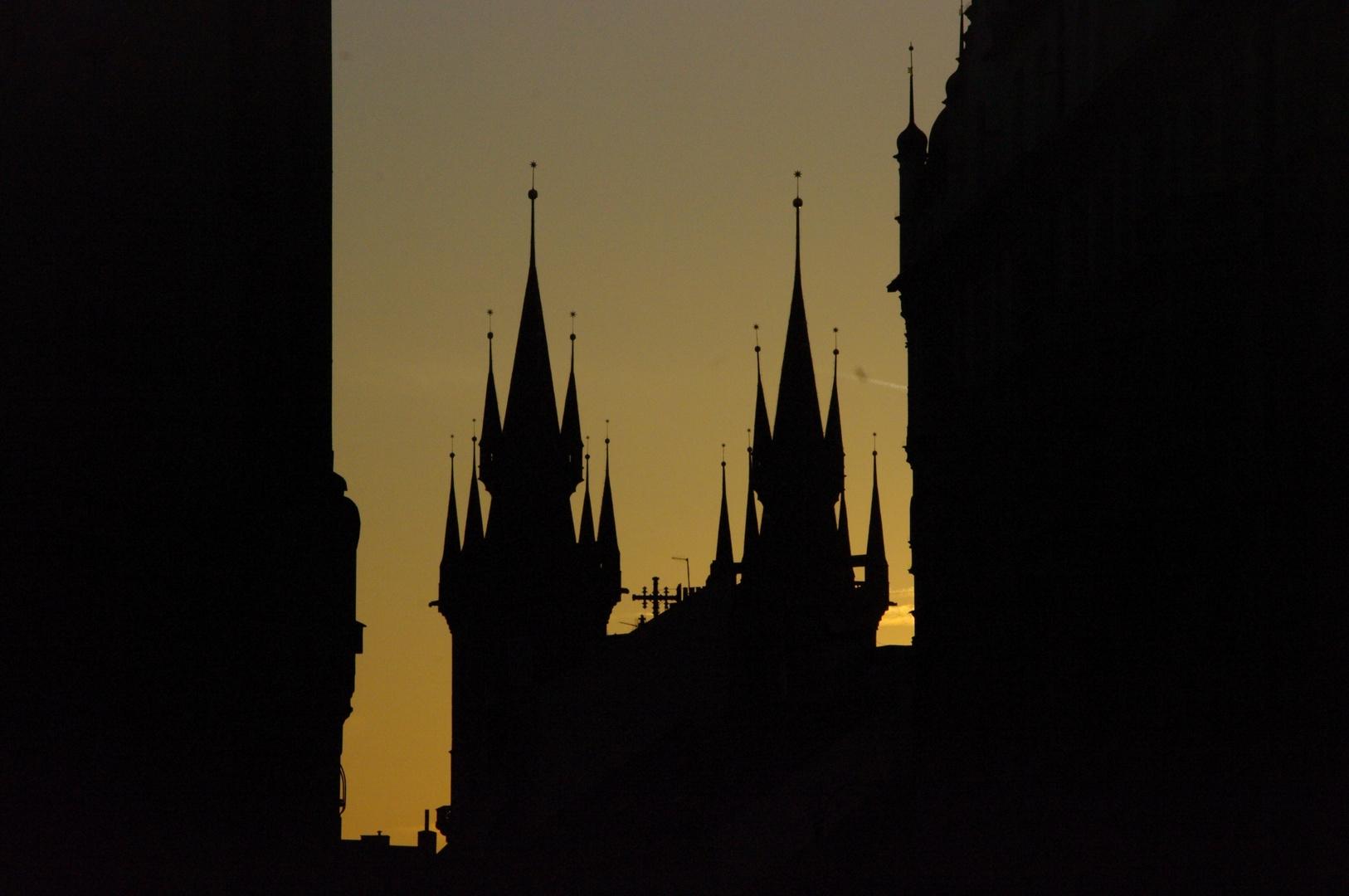 Prag 007 - Rundgang bei Anbruch der Nacht