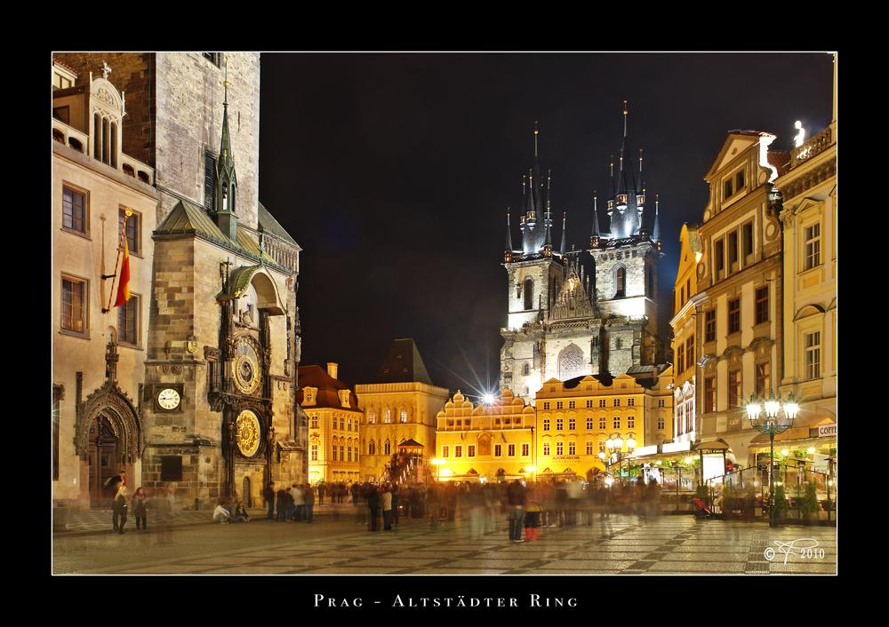 Prag - Altstädter Ring - Nachts