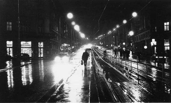 Prag bei Regen