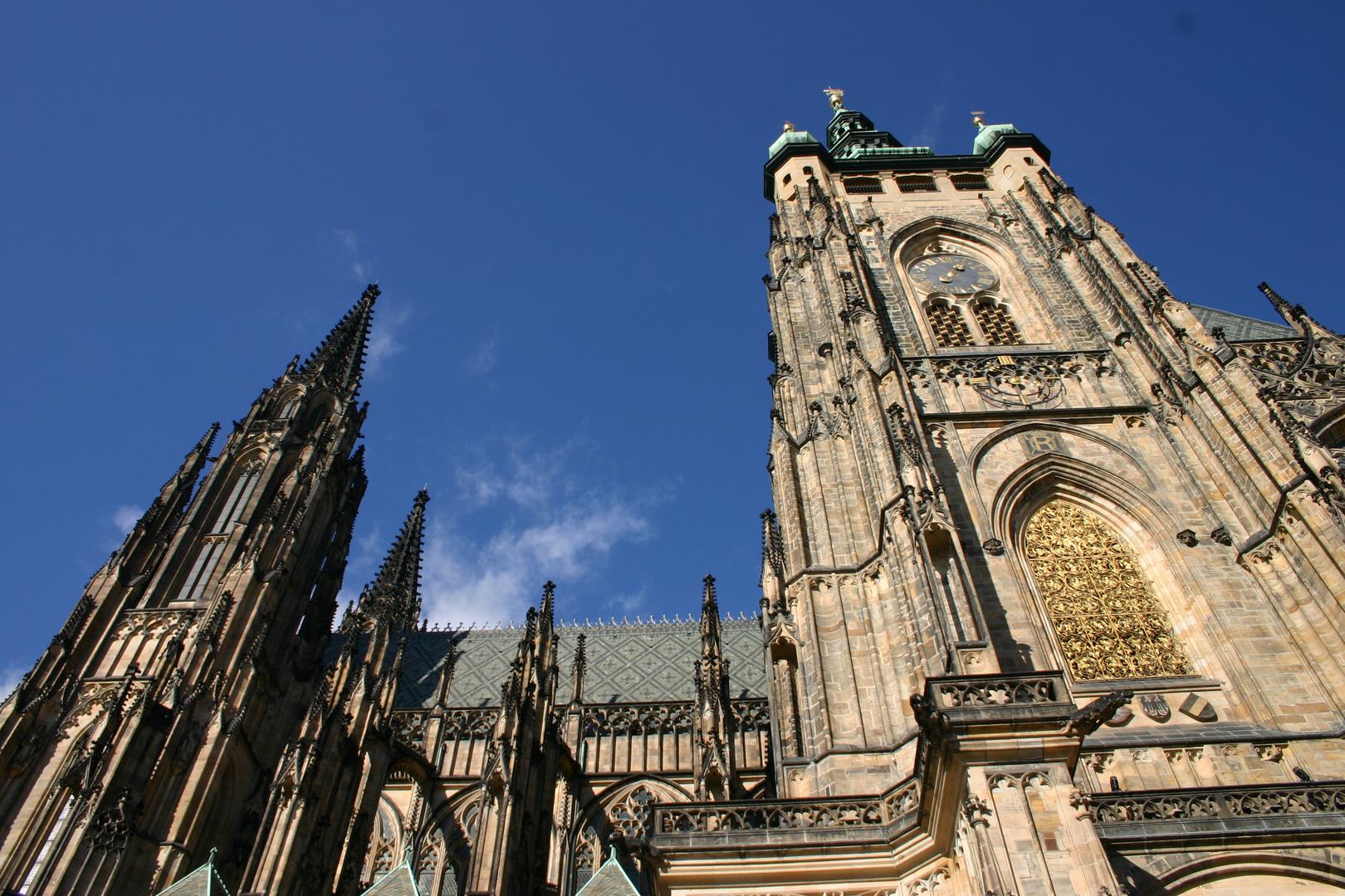 Prag -Der St.-Veits-Dom in der Tschechischen Hauptstadt Prag-