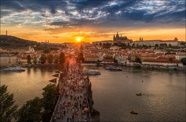 Prag im Abendlicht
