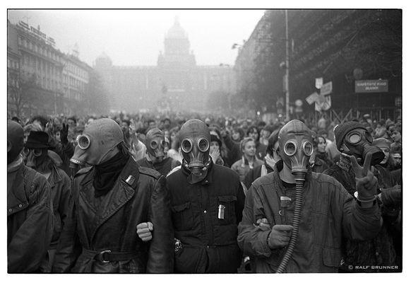 Prag im Dezember 1989